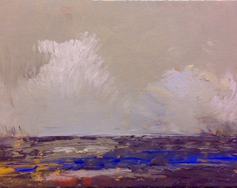 MINI 1655, original painting, oil, landscape, 100% charity donation, on cardboard