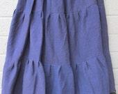 Deep blue hippy skirt