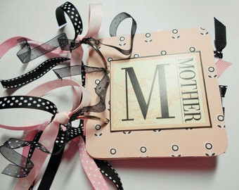 Mother Mini Scrapbook, Mother Mini Album, Mother Scrapbook, Mother Photo Album, Mother Brag Book, Mom Album, Mother Album, Mom