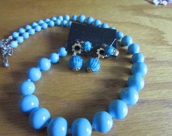 Glass robin egg blue jewelry