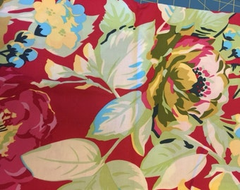 Amy Butler Temple Flowers Red fabric | Cotton Quilting fabric | Last piece