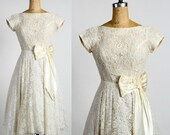 ON SALE White Lace Gown. Formal Dress
