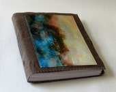 after the storm journal -  waxed tan brown canvas mid size travel journal