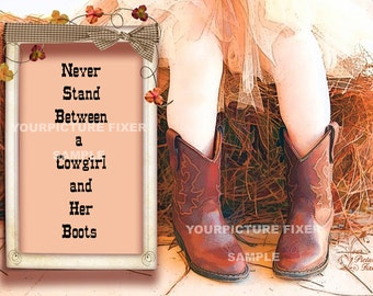 Artwork Print - Cowgirl Boots