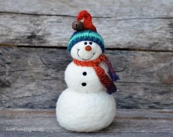Needle Felted Snowman | felted wool snowmen  768