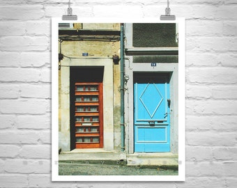 France Photo, Street Photography, Architecture Art, Street Art, Urban Art, Architecture Art, Blue Doors, Art for Living Room, MurrayBolesta