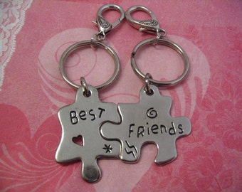 Best Friends Puzzle Key Chains for Friends or Sister Friends His Her Couples