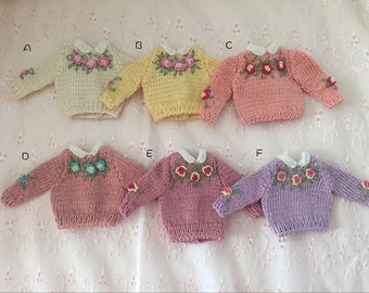 Sale previous season color knit sweater for Blythe Doll