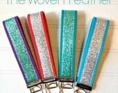 Glitter Key Fob - Key Chain Fob - Wrist strap - Key Chain