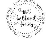 Custom Address Stamp - Style: Holland Round