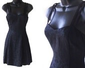 80s 90s Little Black Dress All That Jazz Mini Dress S