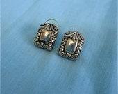 Vintage Silver Tone Earrings