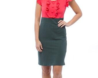 Knit Coral Dress