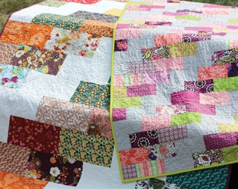 Side Braid Quilt Pattern - Jeni Baker Two Quick and Easy Throw Quilts