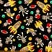 Sock Monkeys in Space  by Myiesha & Katie for Windham Fabrics 41169-X 100% Quilters Cotton Available in Yards, Half Yards and Fat Quarters