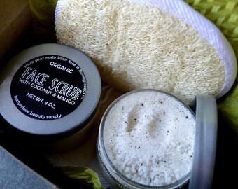 SUGAR SCRUB Gift Set. Face Care Gift Set. Facial Scrub. Natural Skin Care. Bath and Body.  Bath Gift Set. Natural Spa Products. Foot Scrub.