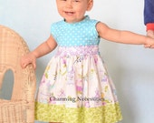 Toddler Girls Dresses, Toddler Girl Clothes, Girls Dresses, Spring Summer Party Dress, Knit Tank Dress Birds of A Feather