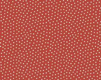 Paper Dolls Bakery Dots Red, C4355-RED, 1930s Reproduction Yardage, Sibling Arts Studio, Penny Rose Fabrics