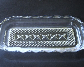 Butter Dish Bottom Only Vintage Wexford 1960's Anchor Hocking