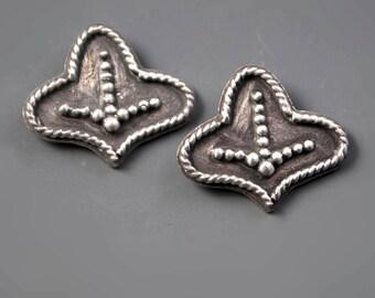Ona Stud Post Sterling Silver Granulation Earrings