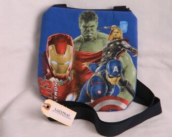 Upcycled Superheros Avengers Purse