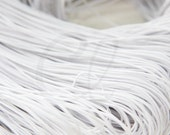 4 Meters White Round Elastic Cord - 1mm (S-428)