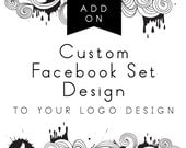 Custom Facebook Set, Add-on with logo design