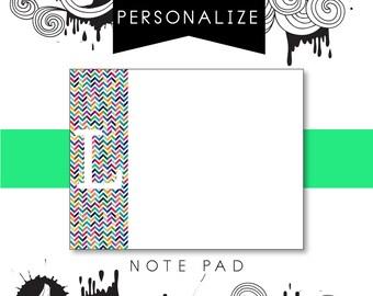 Customizable Chevron Stripe Notepad