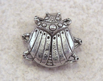 NEW Green Girl Studios Pewter Scarab Button