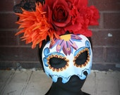 Spectre James Bond -Inspired Day of the Dead Masquerade Mask and Headdress Set