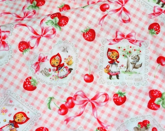Fairy tales selection Little red riding hood Half meter 50 cm by 106 cm or 19.6 by 42 inches