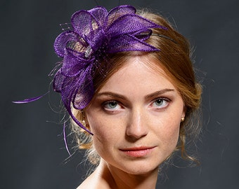 Purple fascinator for your special occasions-beautiful item for coming autumn and winter events