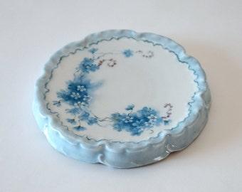 Antique Hand Painted Porcelain Trivet Rosenthal R C Monbijou Bavaria, circa 1907