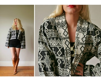 1990s Southwestern Coat~Size Medium to Extra Large