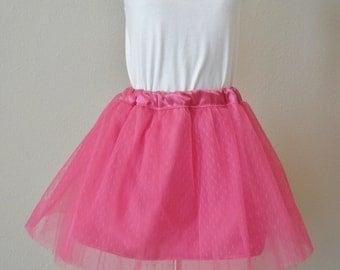 Child Tulle satin skirt, flower girl tulle skirt. Ready to ship 4-5.