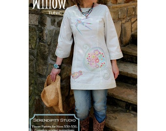 Serendipity Studio No. 138 Willow Tunic Pattern ~ Misses sizes XXS - XXL ~ Two lengths, with sleeve variations