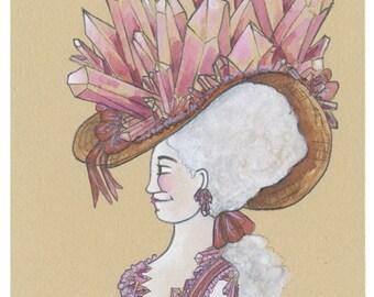 Original Crystal Art Original Rose Quartz Crystal Painting Rose Quartz Gift Rose Quartz Artwork Pink Crystal Artwork Pink Art Mineral Gift