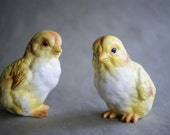 Vintage Lefton Easter Chicks Yellow Baby Chickens Figurines Spring Decor Baby Birds