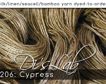 From the Lab - DtO 206 Cypress on Silk/Linen/Seacell/Bamboo Yarn Custom Dyed-to-Order