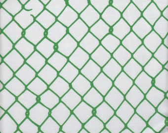 Hoffman ME + YOU Grafic Chain Link Fence in Elm - Half Yard
