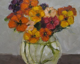 PANSIES PANSY Floral Flowers Still Life Colette W. Davis Art Giclee print