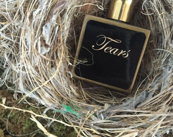 Tears ~ Vintage 1950's Purse Size Perfume Bottle Upcycled