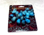 Enchanted Planet Turquoise Tree Agate Beads craft Supplies  beading supplies  diy  necklace bracelet earrings