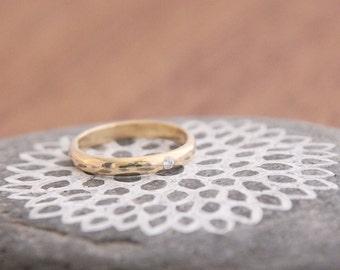Petite Bling, Wedding Band with Diamond