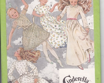 OOP New Vintage 1979 Simplicity Cinderella pattern 9352 Girl's dress in two lengths for size 14