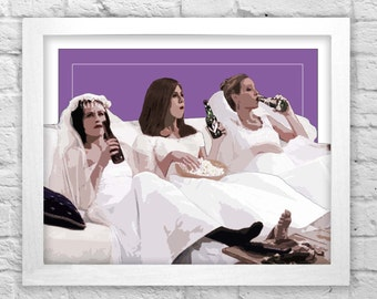 The one with all the wedding dresses- FRIENDS tv show inspired print