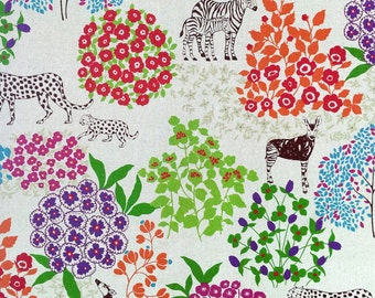 Echino by Etsuko Furuya - Cotton Linen Fabric - Bond EF704 Natural, end of bolt 31 inches