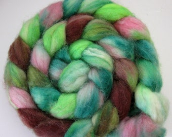 Elfin Magic - Superwash BFL Wool Roving (Top) - Handpainted Spinning or Felting Fiber - 4.5  ounces