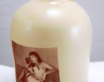 Betty Page jug moonshine whiskey handmade