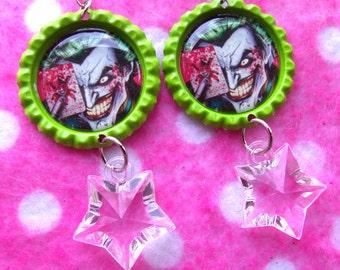 Batman Joker Clown Prince Earrings